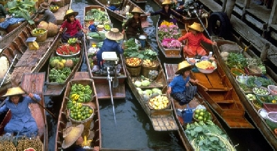 Private day tour by car from Bangkok to Damnoen Saduak Floating Market